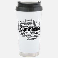 Gymnastics Word Cloud Travel Mug
