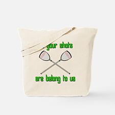 Lacrosse Shots Tote Bag