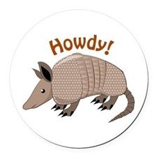 Howdy Round Car Magnet