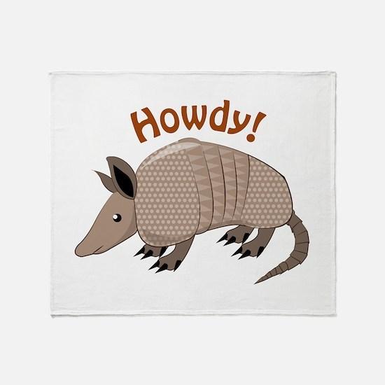 Howdy Throw Blanket