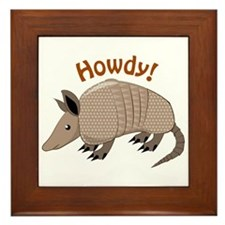 Howdy Framed Tile