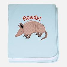 Howdy baby blanket