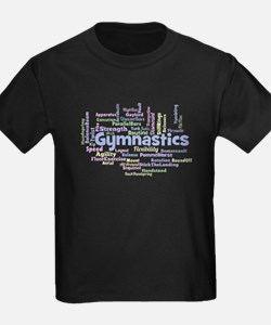 Gymnastics Word Cloud T-Shirt