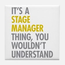 Stage Manager Thing Tile Coaster