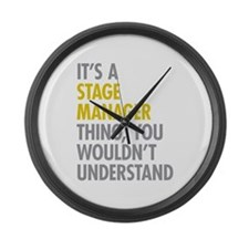 Stage Manager Thing Large Wall Clock