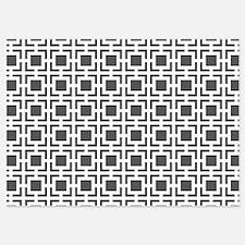 Dark Grey Geometric Lattice Pattern Invitations