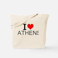 I Love Athens Tote Bag
