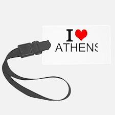 I Love Athens Luggage Tag