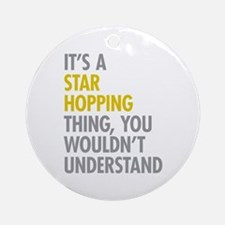 Star Hopping Thing Ornament (Round)
