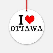 I Love Ottawa Ornament (Round)