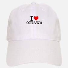 I Love Ottawa Baseball Baseball Baseball Cap