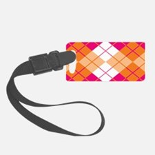 Argyle Design Luggage Tag