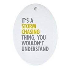 Storm Chasing Thing Ornament (Oval)