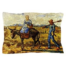Van Gogh - Morning: Peasant Couple Pillow Case