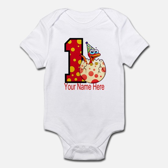 1st Birthday Dino Egg Infant Bodysuit