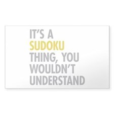 Its A Sudoku Thing Decal