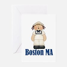 Boston Sailor Greeting Cards (Pk of 10)