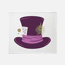 Mad Hatter Hat Throw Blanket