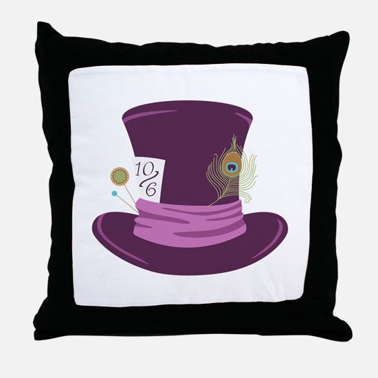 Mad Hatter Hat Throw Pillow