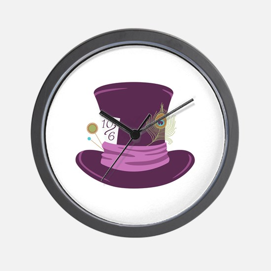Mad Hatter Hat Wall Clock