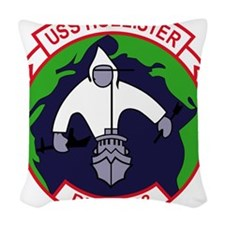 DD-788 USS HOLLISTER US NAVY D Woven Throw Pillow