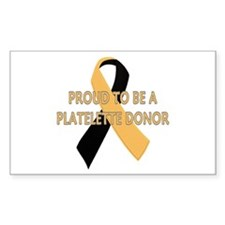 ...Platelette Donor... Rectangle Decal
