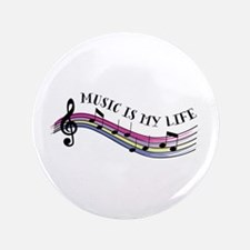 """Music Is My Life 3.5"""" Button"""