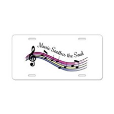 Music Soothes Aluminum License Plate