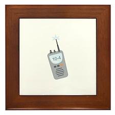 10-4 Message Framed Tile