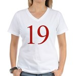 Megababe 19 Women's V-Neck T-Shirt