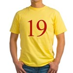Megababe 19 Yellow T-Shirt