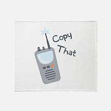 Copy That Throw Blanket