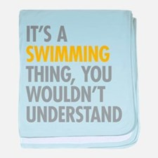 Its A Swimming Thing baby blanket
