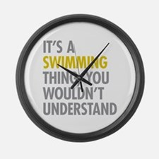 Its A Swimming Thing Large Wall Clock