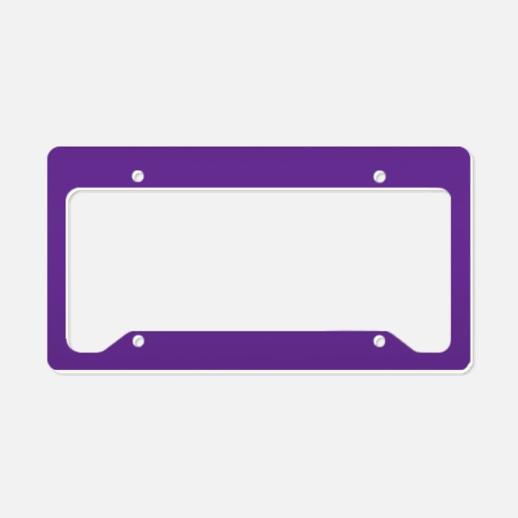 Blue Violet Solid Color License Plate Holder