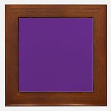 Blue Violet Solid Color Framed Tile