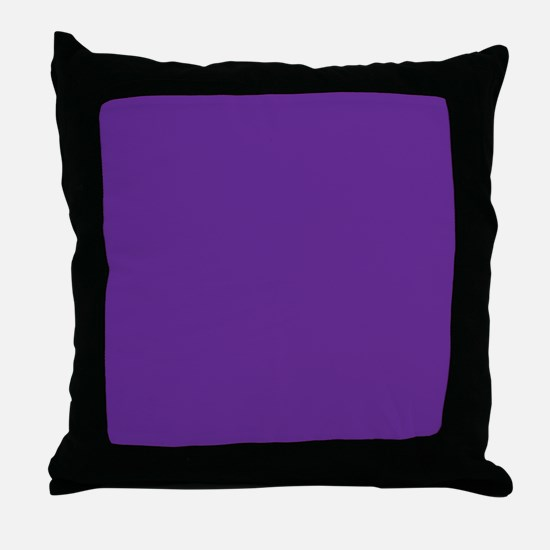 Blue Violet Solid Color Throw Pillow