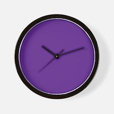 Blue Violet Solid Color Wall Clock