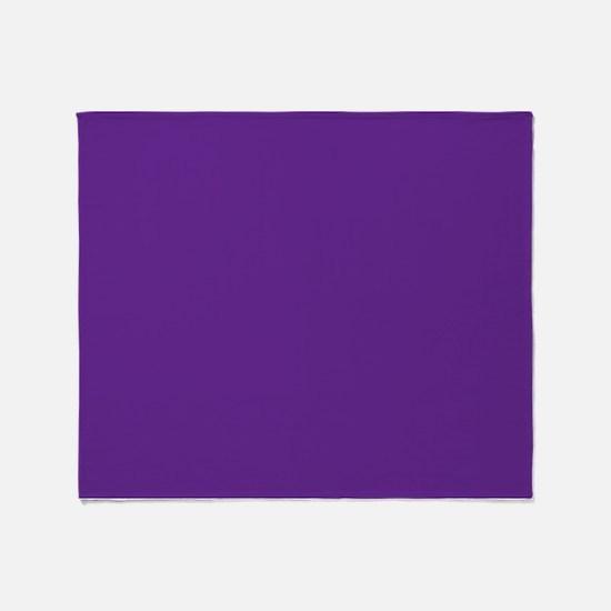 Blue Violet Solid Color Throw Blanket