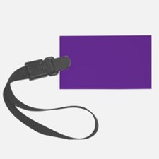 Blue Violet Solid Color Luggage Tag