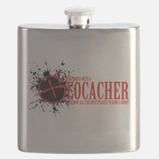 Dont Mess With a Geocacher Flask