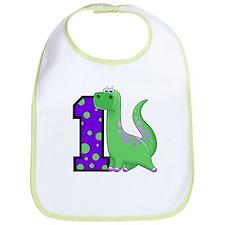 1st Birthday Dinosaur Bib
