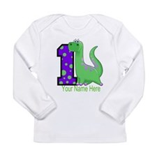 1st Birthday Dinosaur Long Sleeve Infant T-Shirt