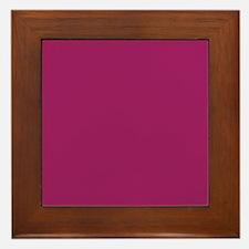 Fuchsia Purple Solid Color Framed Tile