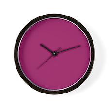 Fuchsia Purple Solid Color Wall Clock