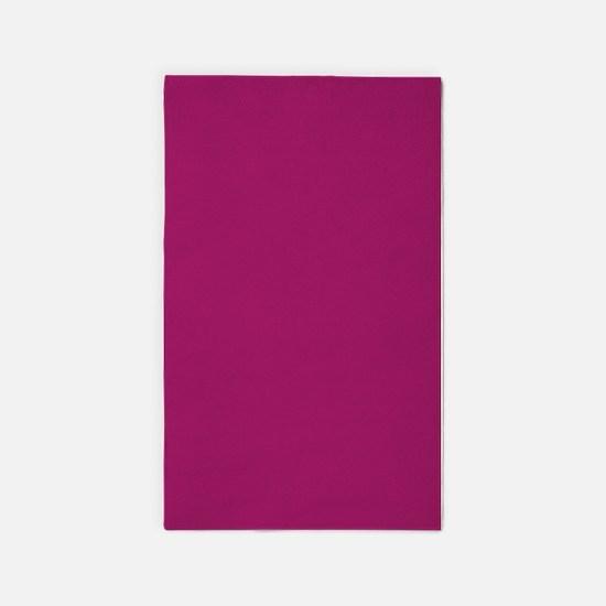 Fuchsia Purple Solid Color 3'x5' Area Rug