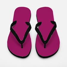 Fuchsia Purple Solid Color Flip Flops