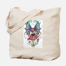 Gothic fairy on mushroom Tote Bag
