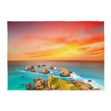 Ocean Sunset 5'x7'Area Rug
