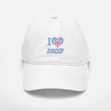 I Love (Heart) Sheep Baseball Baseball Cap